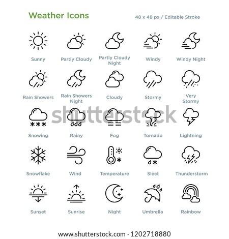 Sunrise. Icon. Weather glyph vector illustration Stock photo © Imaagio