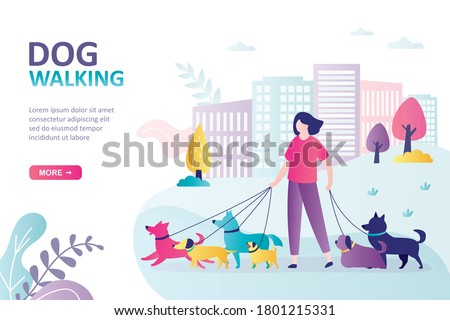 Animal control service concept landing page Stock photo © RAStudio