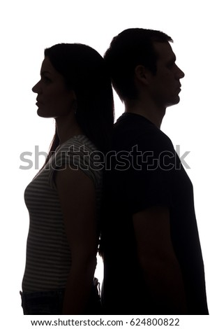 Couple facing different directions Stock photo © photography33
