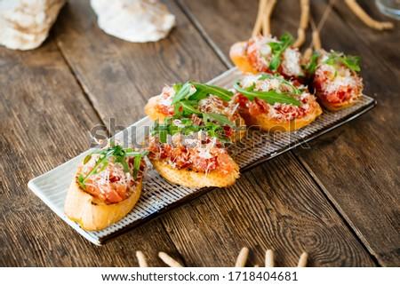 Crostini with tomato Stock photo © oksix