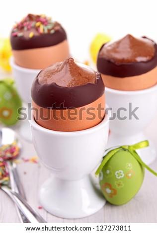 шоколадом · яйцо · Кубок · Пасху · украшение · продовольствие - Сток-фото © m-studio