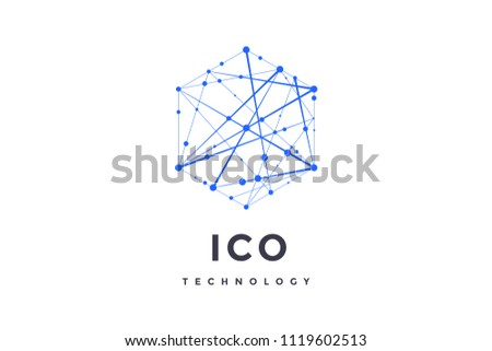 e-commerce and business internet signs in hexagons Stock photo © marinini
