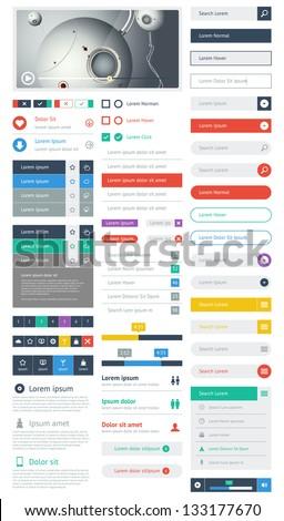 UI flat design web elements and layouts with infographics  Stock photo © DavidArts