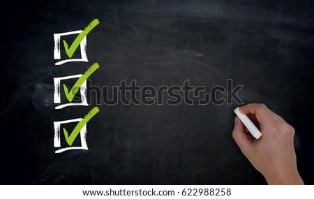 проверить список текста школы совета группа Сток-фото © fuzzbones0