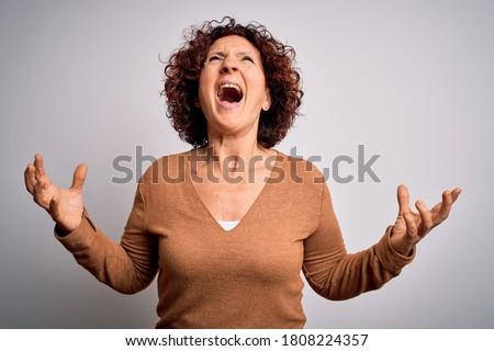 Woman yelling Stock photo © iko