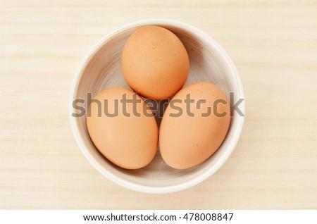 Tre fresche uova bianco Foto d'archivio © Digifoodstock