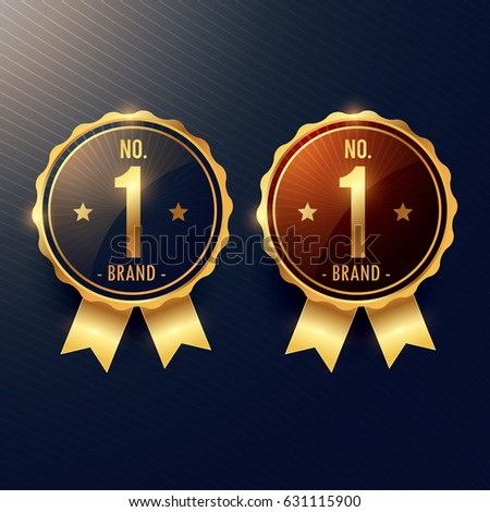 no. 1 brand golden label and badge in two colors Stock photo © SArts
