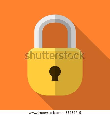 lock vector illustration icon element stock photo © blaskorizov