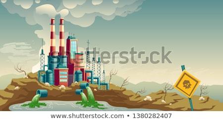 Környezet szennyezés illusztráció vektor kép természet Stock fotó © leedsn