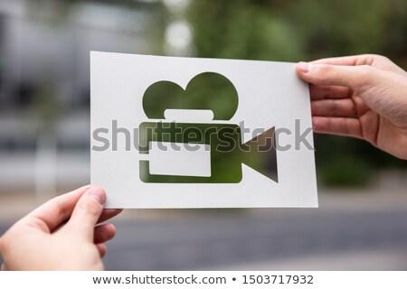 手 紙 カットアウト ビデオカメラ 屋外 ストックフォト © AndreyPopov