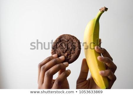 Mulher escolher escuro branco chocolate alimentação saudável Foto stock © dolgachov