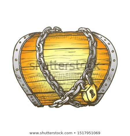 Treasure Chest Chain Shrouded Color Vector Stock photo © pikepicture