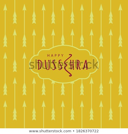 elegant happy dussehra yellow background with bow and arrow Stock photo © SArts