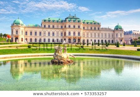 Palota Bécs egy gyönyörű barokk Európa Stock fotó © borisb17