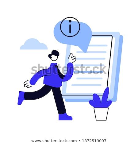 Instrução manual vetor metáfora inteligente homem Foto stock © RAStudio