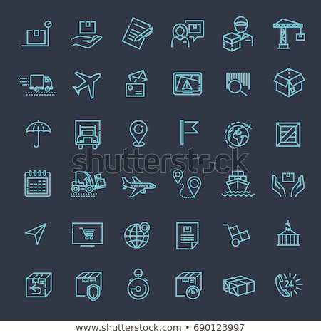 postal transportation company icons set vector stock photo © pikepicture
