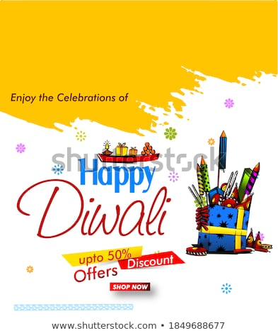 happy diwali seasonal sale background with offer details Stock photo © SArts