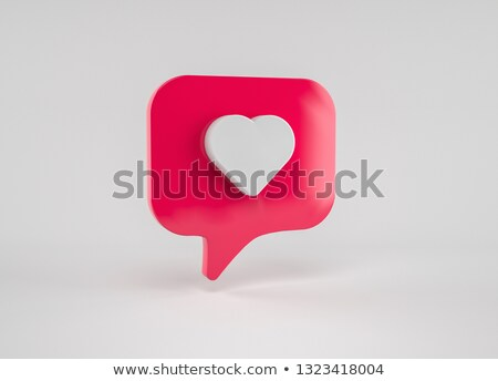 like speech bubble notifications icon like banner stock photo © foxysgraphic