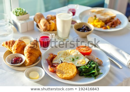 Healthy balanced breakfast in plate Stock photo © furmanphoto