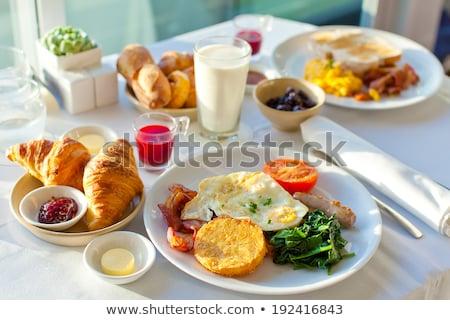 здорового · сбалансированный · завтрак · пластина · авокадо - Сток-фото © furmanphoto