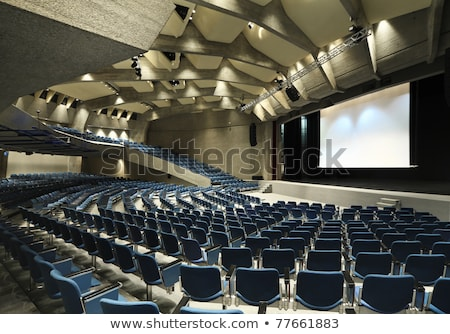 rouge · cinéma · salle · confortable · velours - photo stock © galitskaya