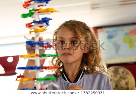 Frente vista colegiala ADN modelo Foto stock © wavebreak_media