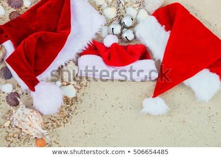 üç Noel plaj şapka Stok fotoğraf © Illia