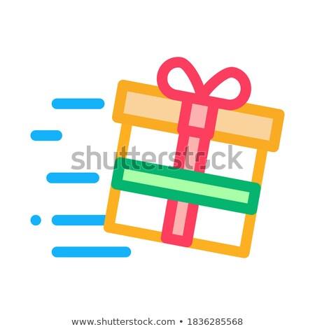 Geschenk snelheid licht icon vector schets Stockfoto © pikepicture