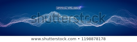 Inteligência moderno robô inteligência artificial cérebro humano humanismo Foto stock © RAStudio