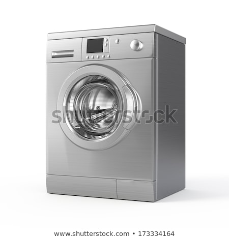 washing machine on white background. Isolated 3d illustration Stock photo © ISerg