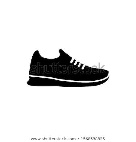 Botas sapatos borracha couro vetor modelo Foto stock © vector1st
