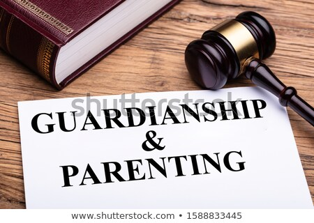 Guardianship And Parenting Documents With Gavel And Book Stock photo © AndreyPopov