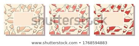 Rechthoekig alcohol patroon bril witte wijn top Stockfoto © artjazz