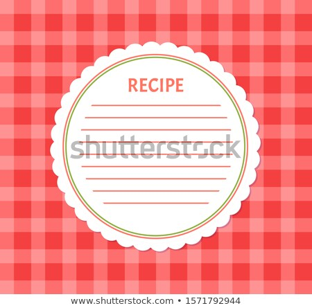 Recette page alimentaire cuisine Photo stock © robuart
