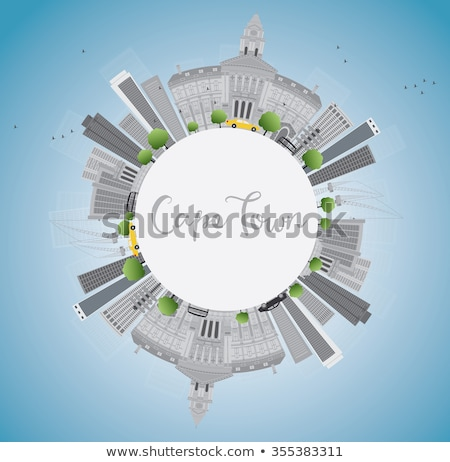 Cape town skyline with grey buildings, blue sky and copy space.  Stock photo © ShustrikS
