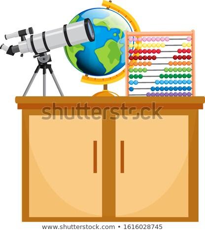 Telescopio mundo ilustración fondo Foto stock © bluering
