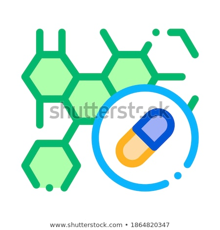 Effect of Drugs on Body Supplements Icon Vector Illustration Stock photo © pikepicture