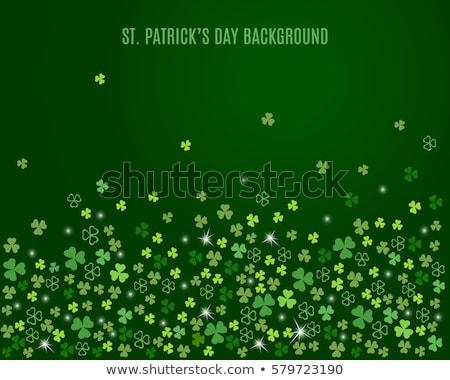 st patricks clover sparkling leaf background design Stock photo © SArts