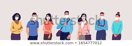 Pessoas do grupo máscaras vetor tanto masculino feminino Foto stock © THP