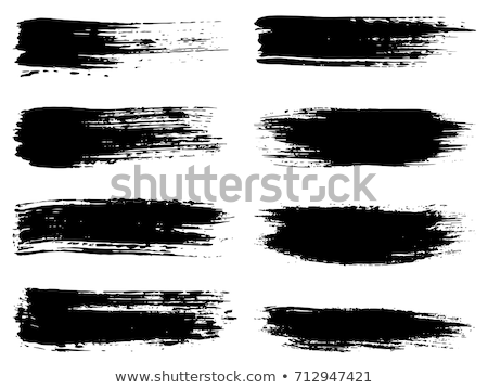 Ink brush strokes, Set of paint spots. hand made design. vector Stock photo © Andrei_