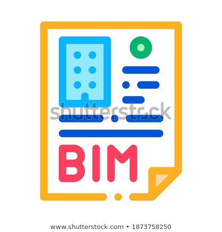 report on building information modeling icon vector outline illustration Stock photo © pikepicture