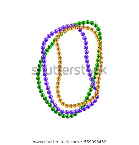 Perles carte vecteur pourpre modèle espace de copie Photo stock © yopixart