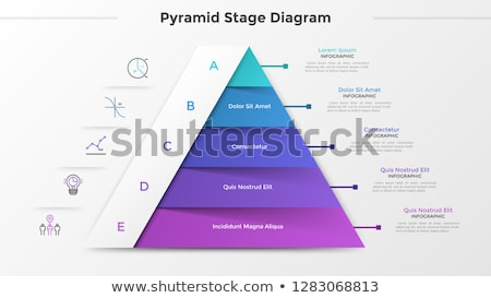 Vector Infographic Pyramid chart diagram template Stock photo © orson