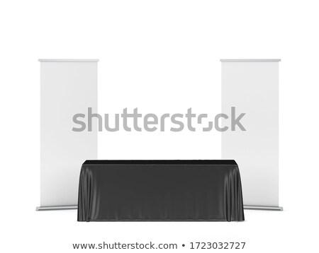 Tafelkleed 3d illustration geïsoleerd witte teken Stockfoto © montego