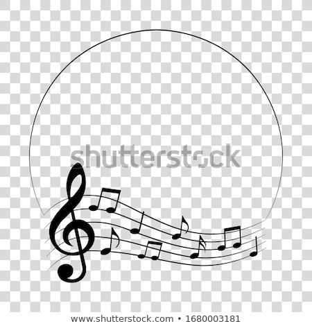 Muziek merkt vorm witte geïsoleerd muziek abstract Stockfoto © evgeny89