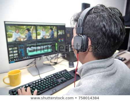 ビデオ エディタ ソフトウェア オフィス 手 女性 ストックフォト © AndreyPopov