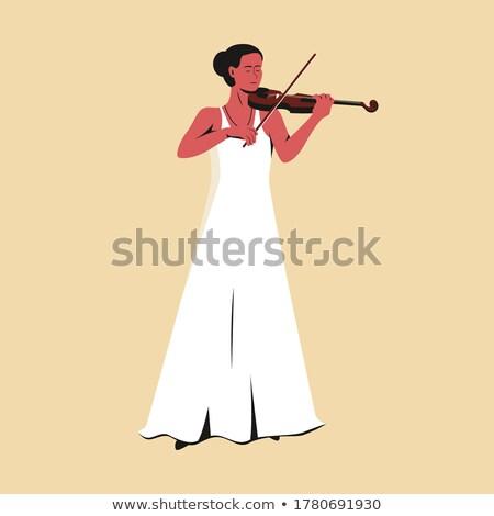 Apaixonado profissional feminino músico violino jogar Foto stock © Giulio_Fornasar
