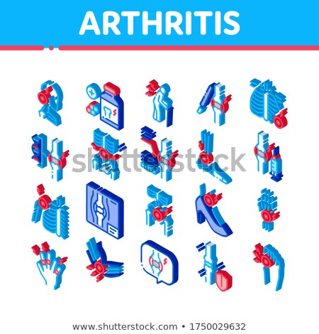 Arthritis Disease Isometric Icons Set Vector Stock photo © pikepicture