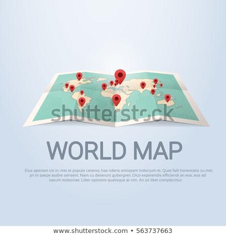 Világszerte nemzetközi üzlet vektor mutat alkalmazott térkép Stock fotó © robuart