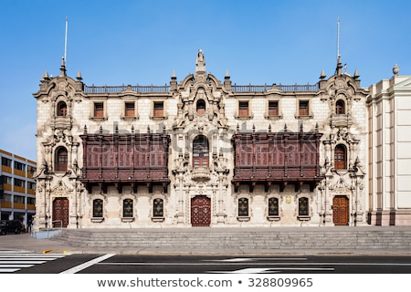 Archbishop's Palace of Lima in Peru Stock photo © boggy